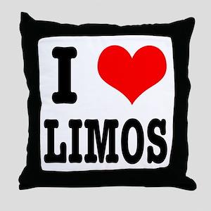 I Heart (Love) Limos Throw Pillow