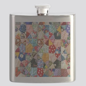 Colorful Patchwork Quilt Flask