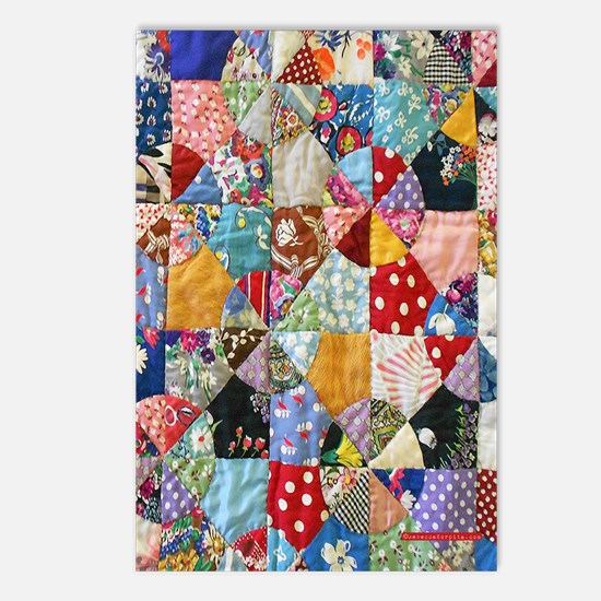 Colorful Patchwork Quilt Postcards (Package of 8)