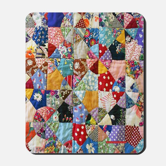 Colorful Patchwork Quilt Mousepad
