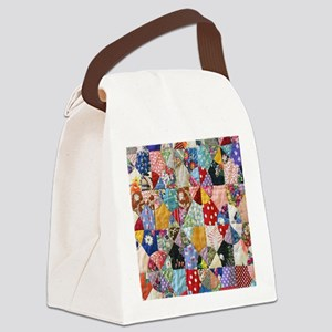 Colorful Patchwork Quilt Canvas Lunch Bag