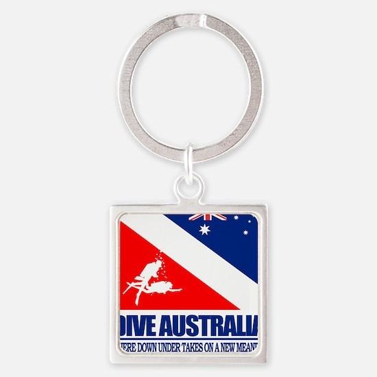 Dive Australia 2 Square Keychain