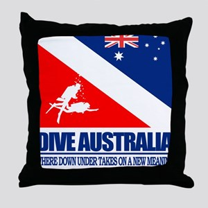 Dive Australia 2 Throw Pillow