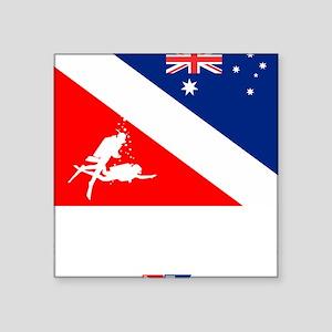 """Dive Australia 2 Square Sticker 3"""" x 3"""""""