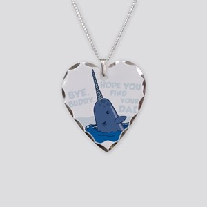 Elf Narwhal Necklace Heart Charm