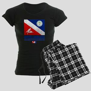 Dive Belize Women's Dark Pajamas