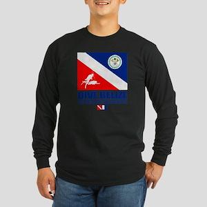 Dive Belize Long Sleeve Dark T-Shirt