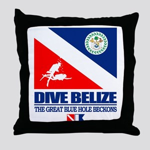 Dive Belize Throw Pillow