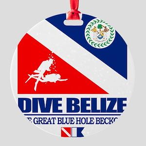 Dive Belize Round Ornament