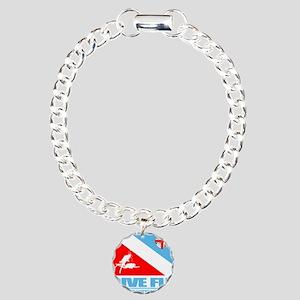 Dive Fiji Charm Bracelet, One Charm