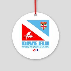 Dive Fiji Round Ornament