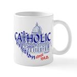 Catholic and Christian (Blue) Mug