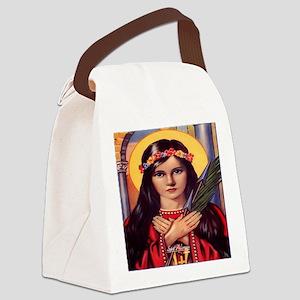Saint Philomena Canvas Lunch Bag