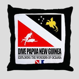 Dive Papua New Guinea Throw Pillow