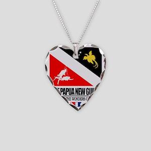 Dive Papua New Guinea Necklace Heart Charm