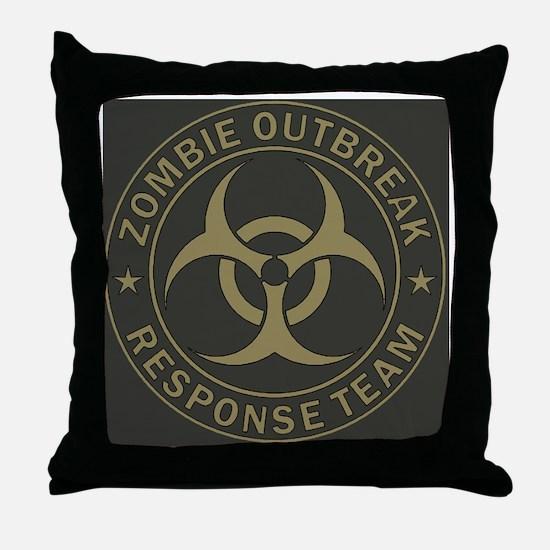 Zombie Outbreak Response Team Tan  Ol Throw Pillow