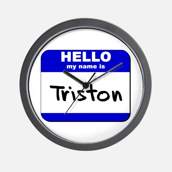 hello my name is triston  Wall Clock