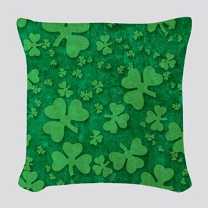 Shamrock Pattern Woven Throw Pillow