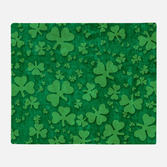 Shamrock Pattern Throw Blanket
