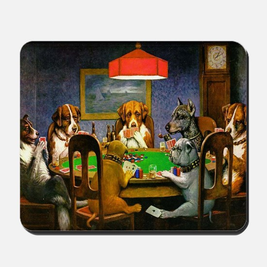 Card Playing Dogs Mousepad