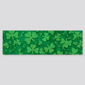 Shamrock Pattern Sticker (Bumper)