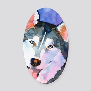 Husky #1 Oval Car Magnet