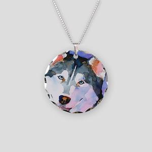 Husky #1 Necklace Circle Charm