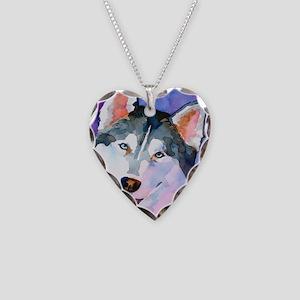 Husky #1 Necklace Heart Charm