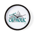Grateful to be Catholic Wall Clock