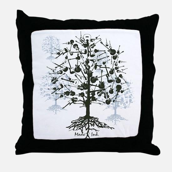 Guitar Tree Throw Pillow