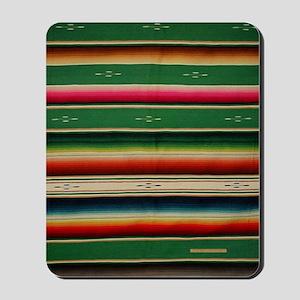 Vintage Green Mexican Serape Mousepad