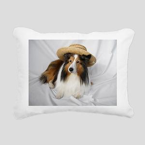 Angel in White Rectangular Canvas Pillow