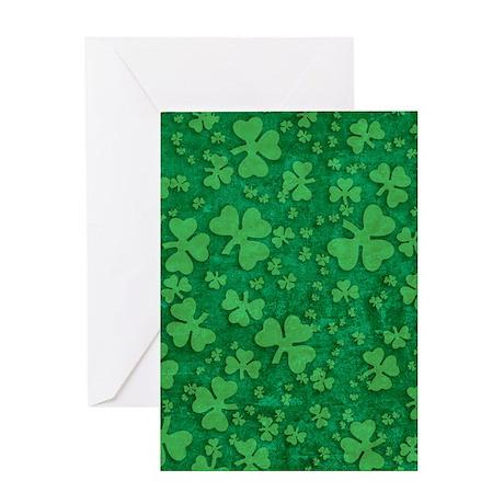 Shamrock Pattern Greeting Card
