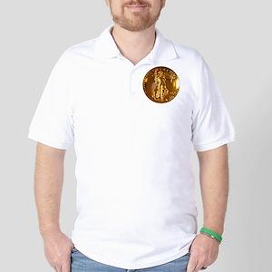 Ultra High Relief Gold Coin Golf Shirt