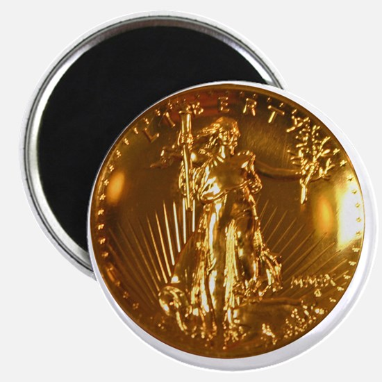 Ultra High Relief Gold Coin Magnet