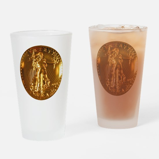 Ultra High Relief Gold Coin Drinking Glass