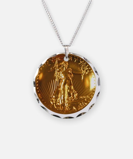 Ultra High Relief Gold Coin Necklace