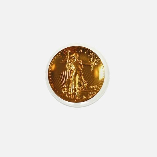 Ultra High Relief Gold Coin Mini Button