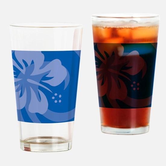 Blue Snowflake Ornament Drinking Glass