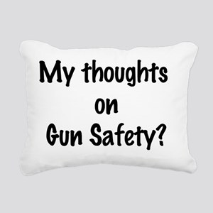 my thoughts on gun safet Rectangular Canvas Pillow