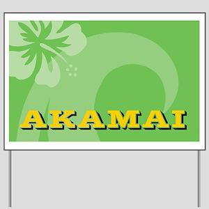 Akamai Car Flag Yard Sign