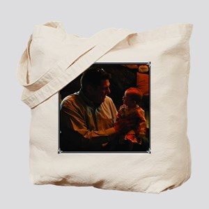 Cassidy on Dads Knee Tote Bag