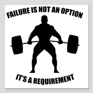 "Failure Is Not An Option Square Car Magnet 3"" x 3"""