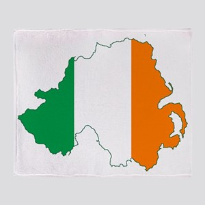 Northern Ireland (Map with Tri-Colou Throw Blanket