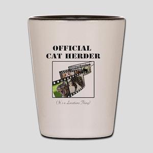 Official Cat Herder Shot Glass