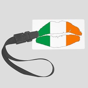 Irish Lips Large Luggage Tag