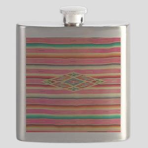 Vintage Pink Mexican Serape Flask