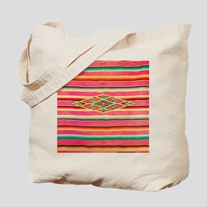 Vintage Pink Mexican Serape Tote Bag