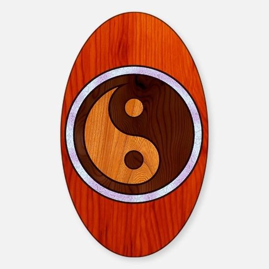 wood-yang-CRD Sticker (Oval)