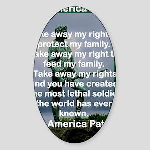 THE AMERICAN PATRIOT Sticker (Oval)